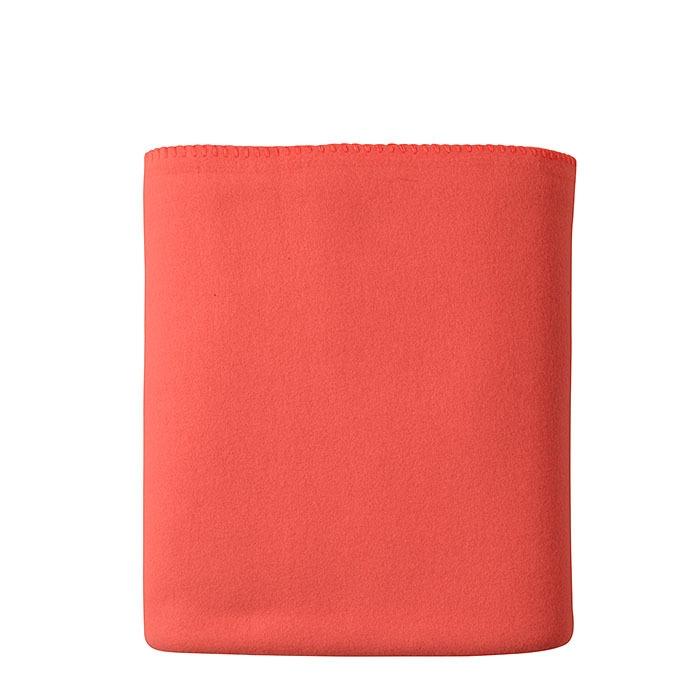Couverture en polaire couleur orange 130 x 170 cm