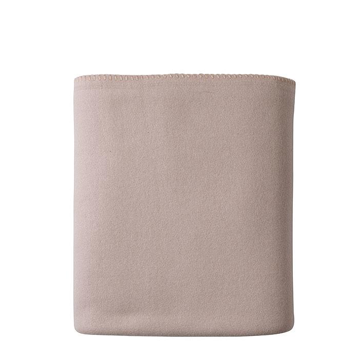 Couverture en polaire couleur lin 130 x 170 cm