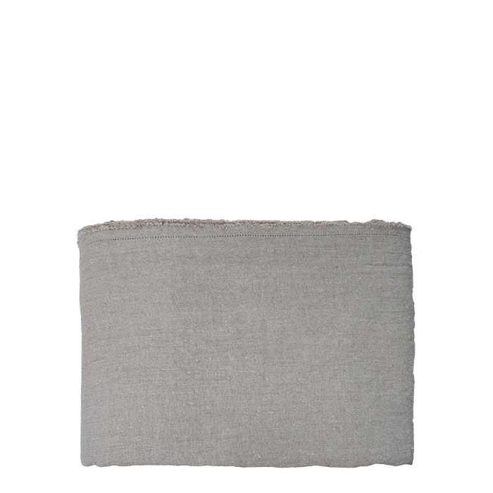 Couvre-lit 100% lin ourlet a jour couleur naturelle 266 x 285 cm