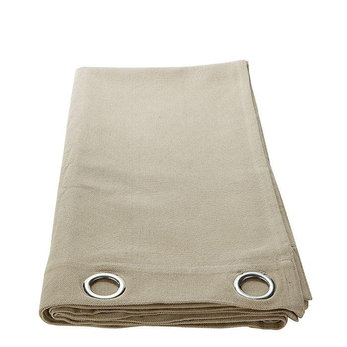 Tenda cotone con anelli alluminio colore lino 135 x 290 cm