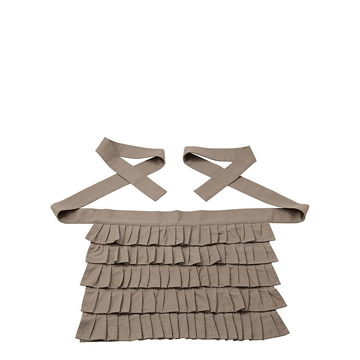 100% cotton apron with frills