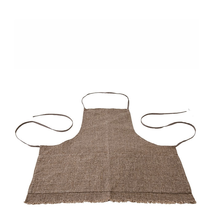 100% raw linen fringes 5 pockets apron