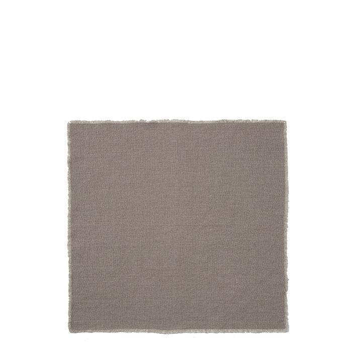 Serviette 100% couleur naturel frange
