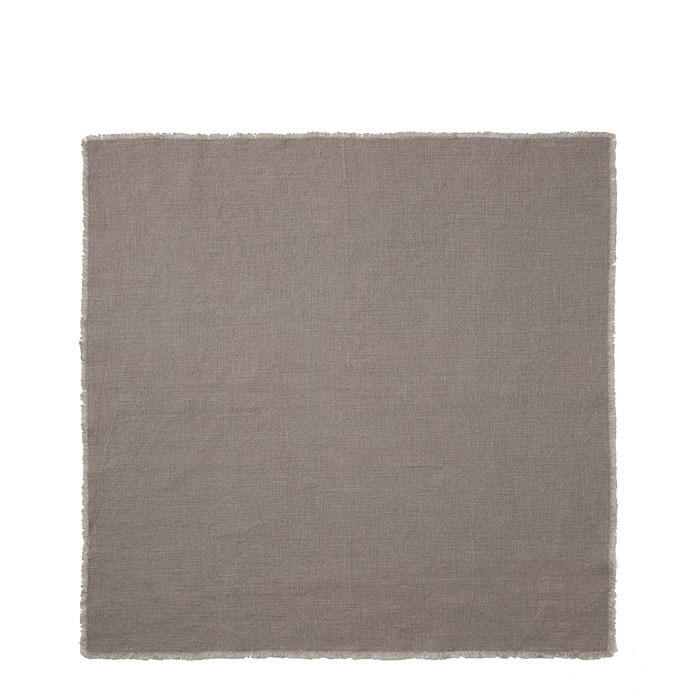 Serviette 100% couleur naturel frange 50 x 50 cm