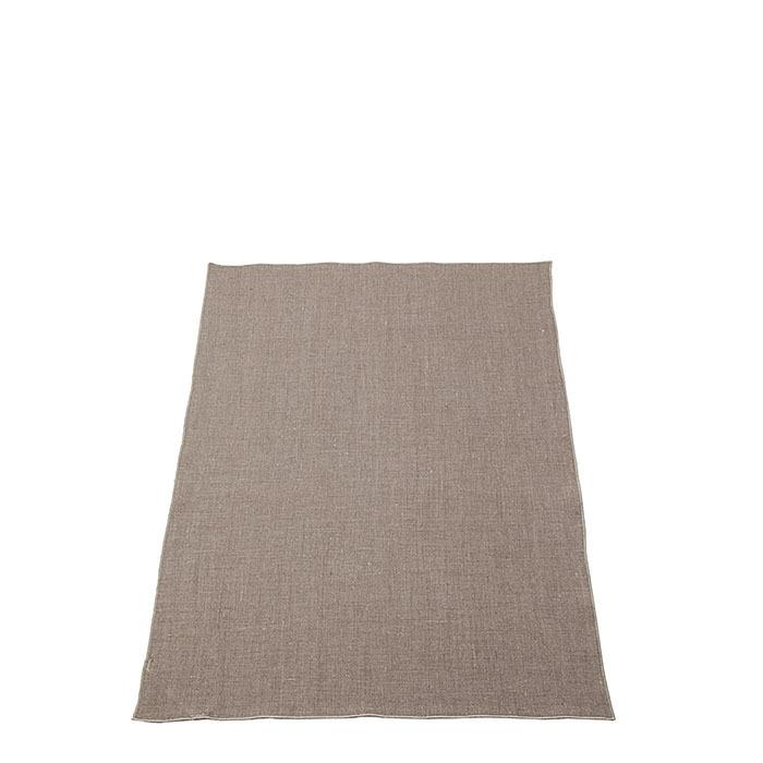 Canovaccio 100%lino liscio04 naturale bordo natur 50 x 70 cm