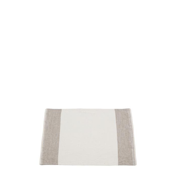 100%linen dishcloth lateral stripes natural/cream 30x45 cm