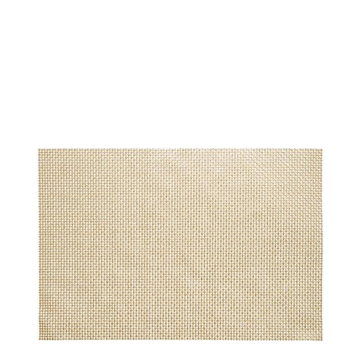 Placemat weave gold color 30 x 45 cm