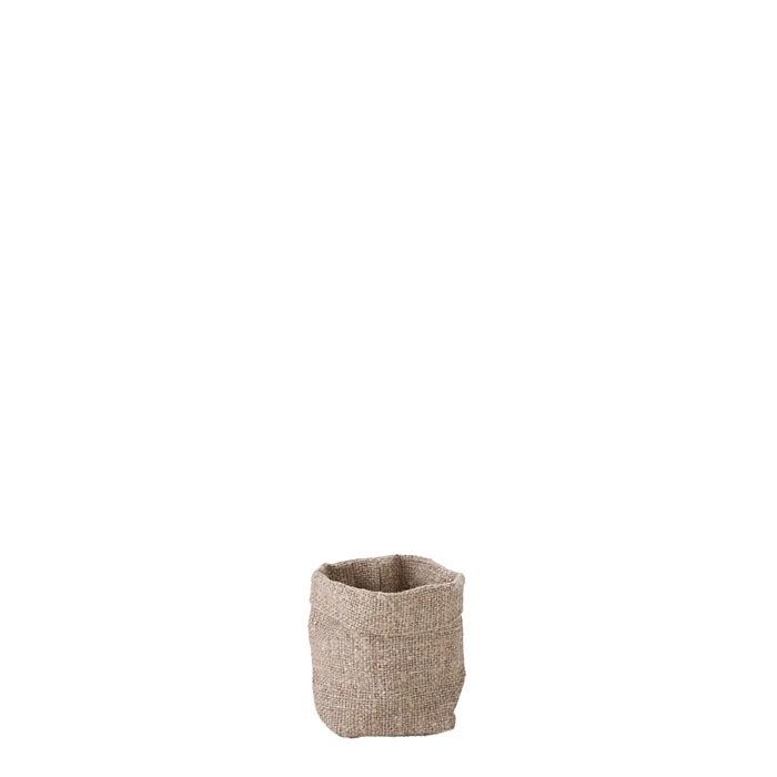 Sacco per zucchero/tea 100% lino grezzo natural 5 x 6 h10 cm