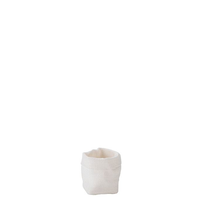 Sacco per zucchero/tea 100% lino grezzo panna 5 x 6 h10 cm