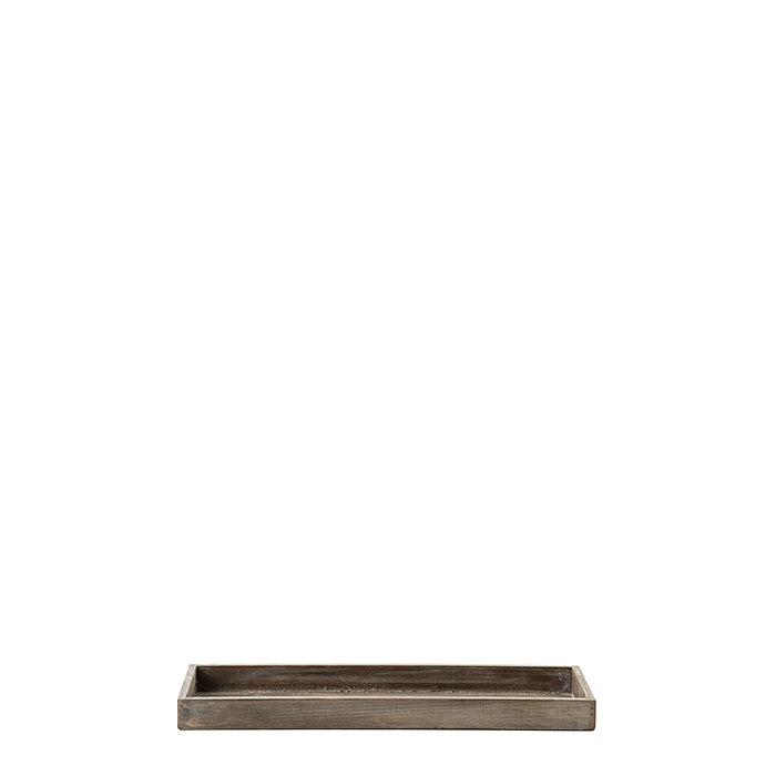 Vassoio squadrato in legno marrone 40 x 13 h3.3 cm