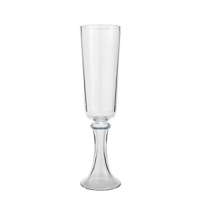 Vaso vetro spesso candeliere h54 cm