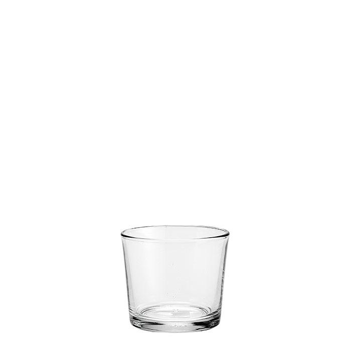 Conical glass vase d10 h9 cm