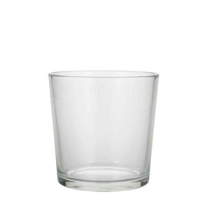 Vase conique en verre d19 h19 cm