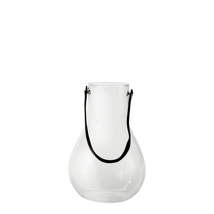 Vaso pensile con cordino nero h15.5 cm