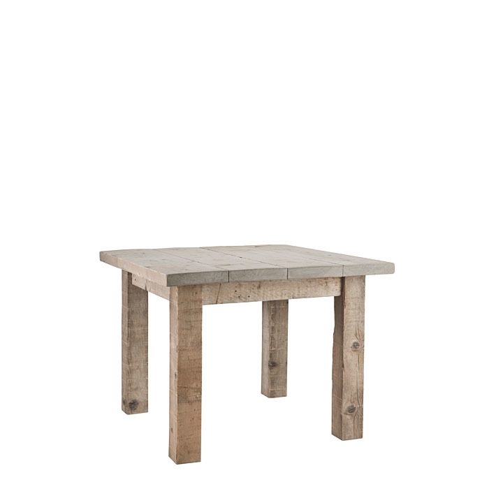 Table en bois brut 100 x 100 h74 cm for Deco meuble srl