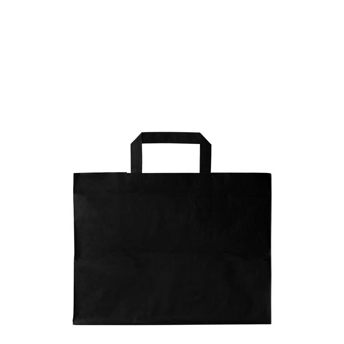 Black paper bag for food use 32 x 22 h24 cm