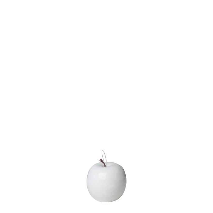 Pack of 24 white pvc apples d6.5 cm