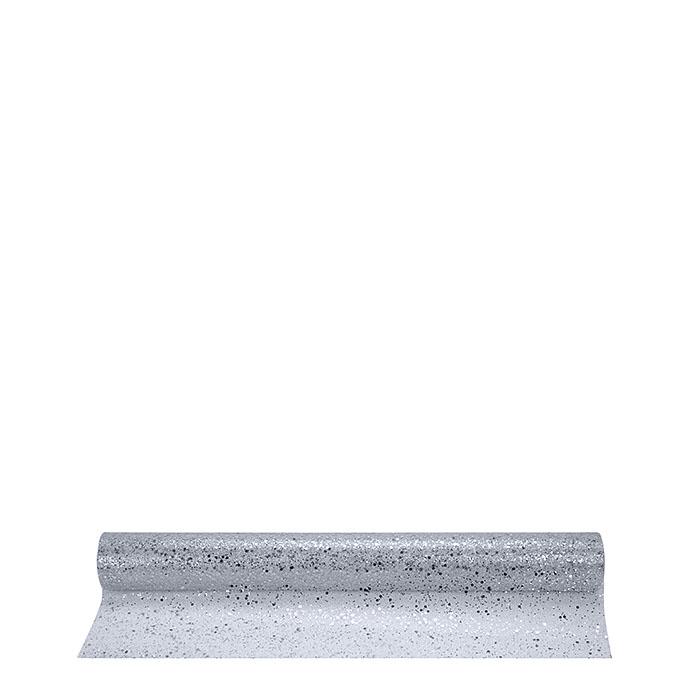 Rotolo tulle luccicante colore argento 10m x 50 cm