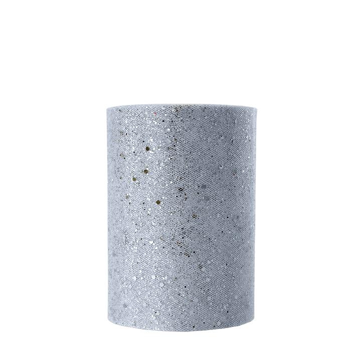 Glitter silver rell silver color 50m x 14cm