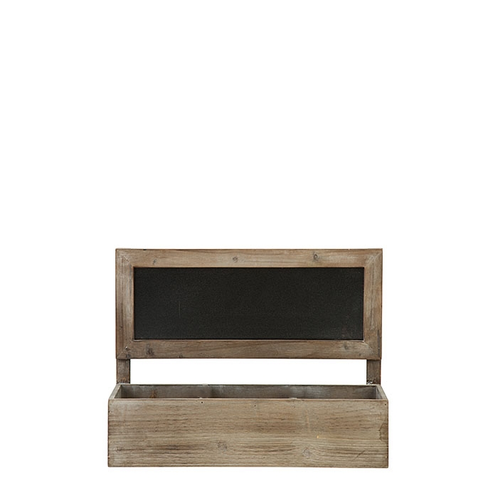 Bistrot wooden crate with blackboard 36 x 13 h27 cm