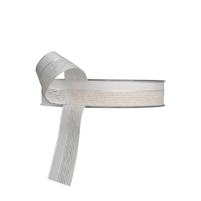 Double weave cream ribbon