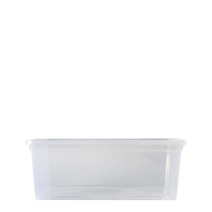 Transparent plastic box with cover 33.5 x 19 h12 cm