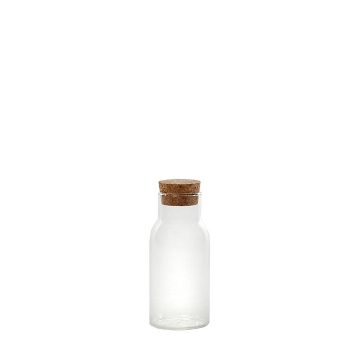 Bouteille en borosilicate avec bouchon en liege v175ml d5 h13 cm