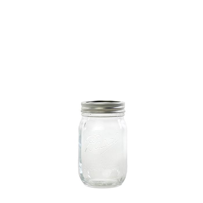 Barattolo detox in vetro con tappo in metallo d7 h13 cm