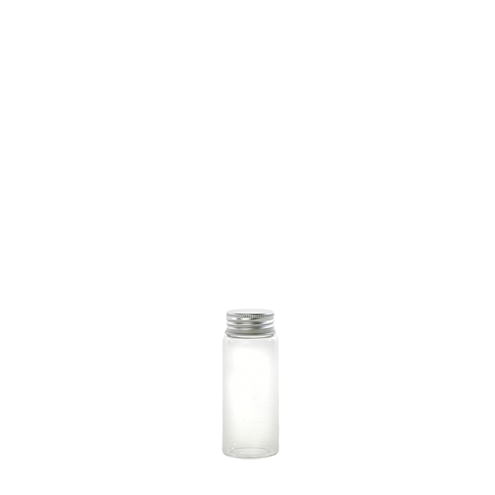 Fiala in vetro borosilicato con tappo metal v50 ml d3.5 h9 cm