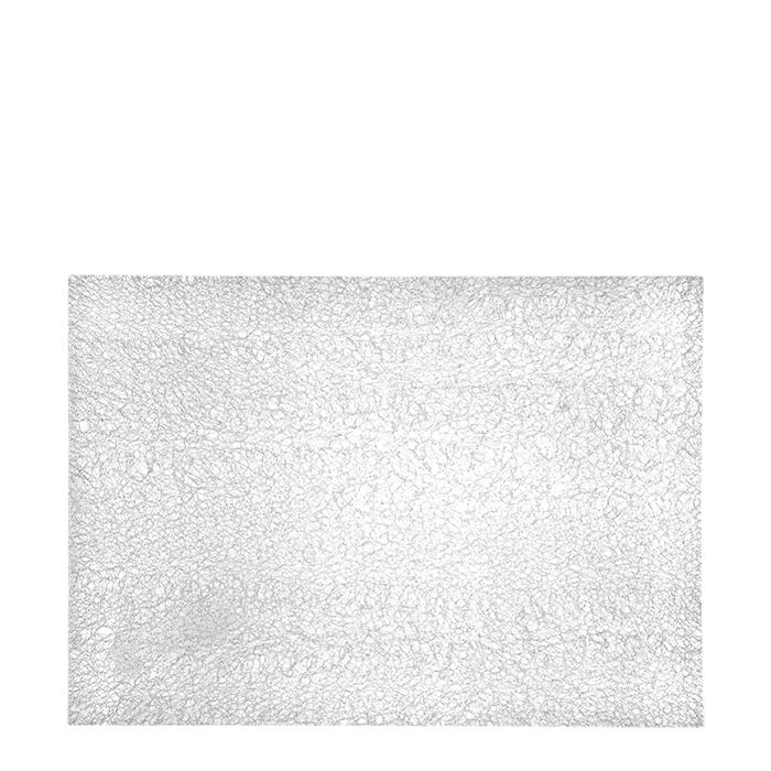 Polyetylene frozen design woven placemat 35 x 50 cm