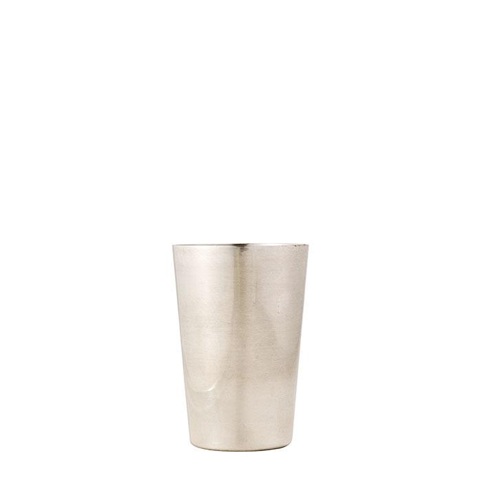 Bicchiere in alluminio satinato d7 h9 cm