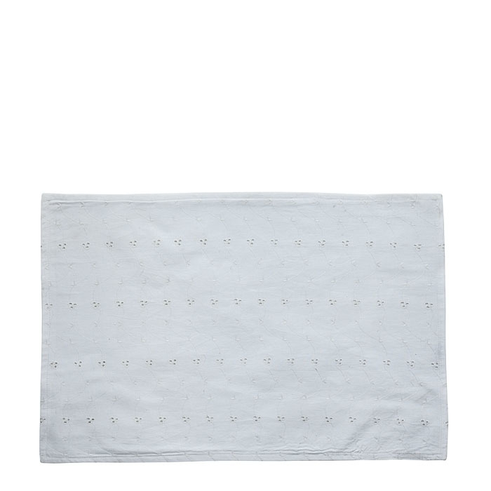 Placemat 100% cotton with embroidery white color 33 x 48 cm