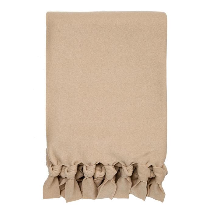 Pile blanket with bows colour linen 150 x 220 cm