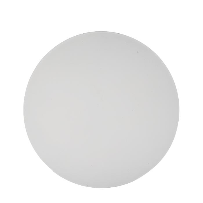 Plastic underplate white color d33 h0.5 cm