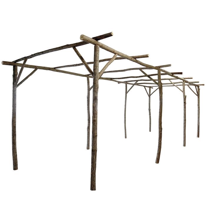 Patio in legno 750 x 240 h250 cm