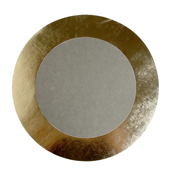 Cellulose fiber underplate linen golden edge d32 cm