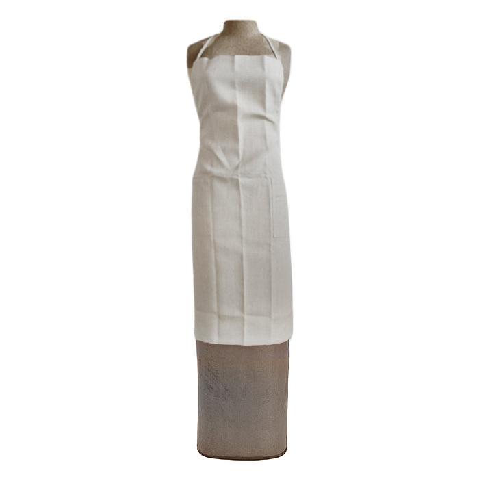 1oo% linen apron with 2 pockets cream col