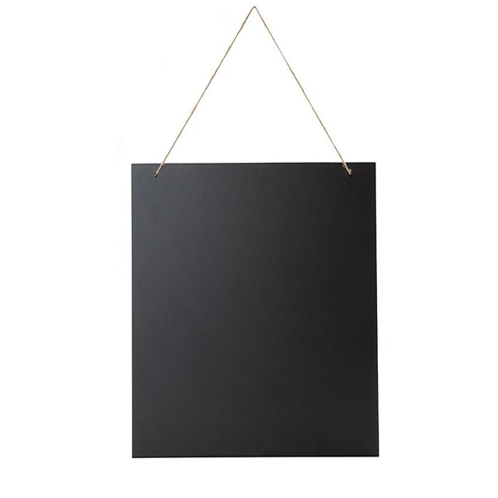Tableau noir en bois avec cordes  40 x 60 cm