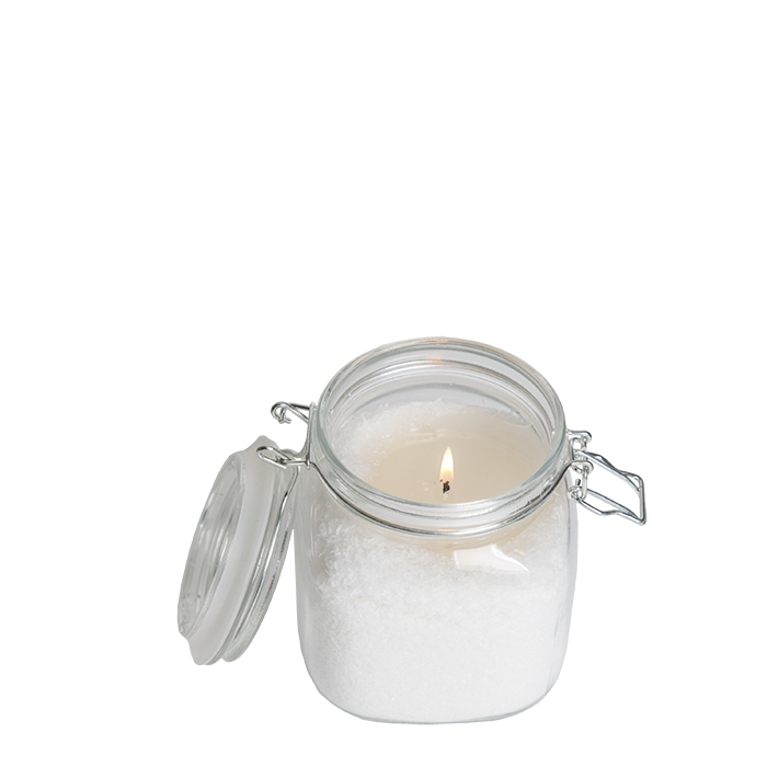 Candle flakes in a jar 11 x 11 h12 cm