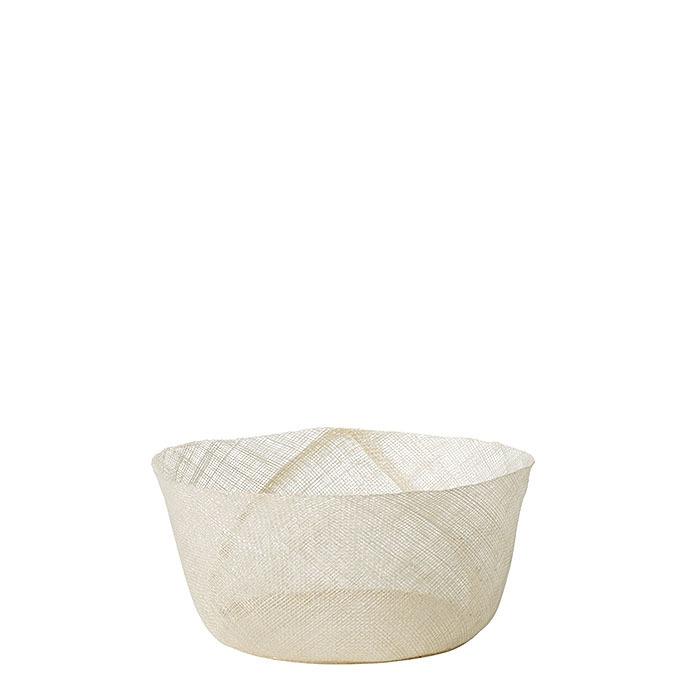 Grand bol en filet simple couleur blanc d18 h8 cm