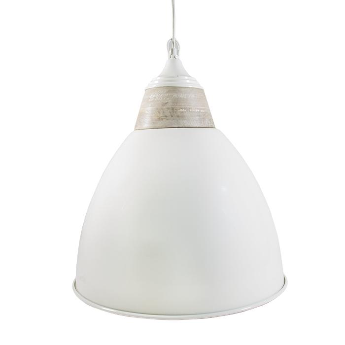 Lampada campana bianca d55 h60 cm