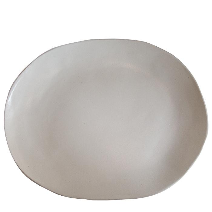 Piatto ovale in gres 30 x 40 cm