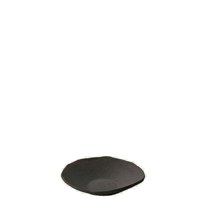 Piattino in gres nero d12 cm