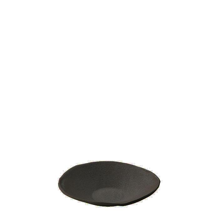 Piattino in gres nero d14 cm