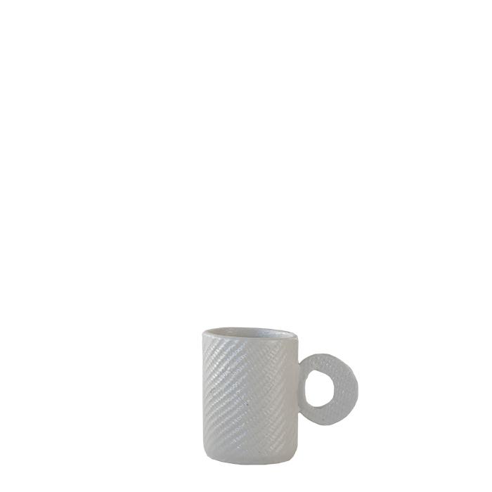Tazza da caffe' cilindrica in gres texture d5 h7 cm