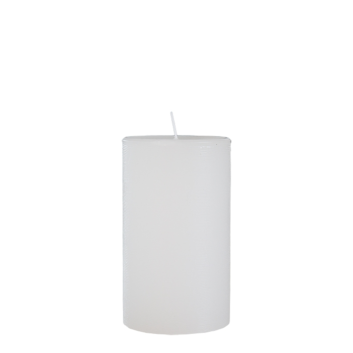 Pack of 2 self-extinguishing white candles d8 h20 cm
