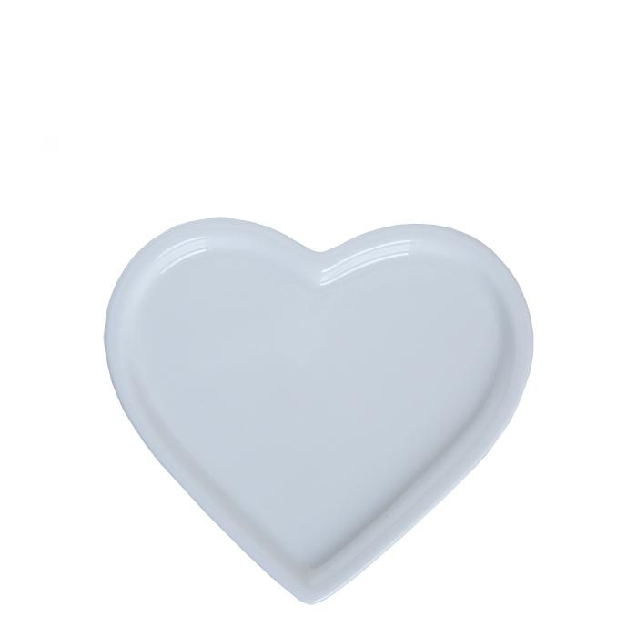 Piatto in porcellana bianca a forma di cuore 9.5 cm