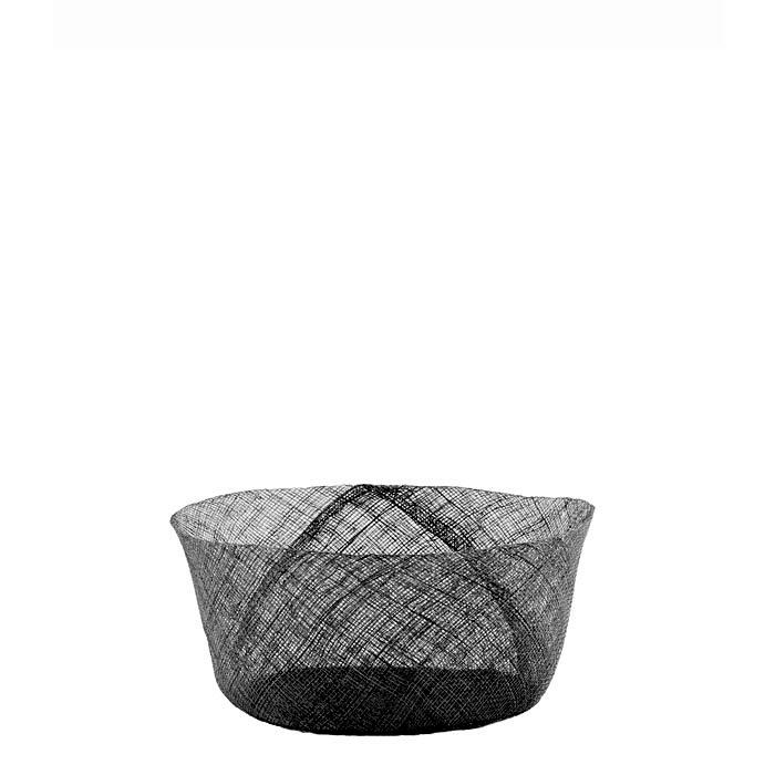 Simple black net bowl d18 h8 cm