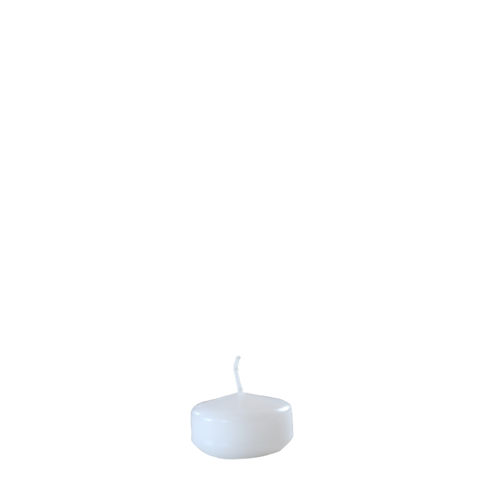 Pack of 28 white floating candles d3.8 cm