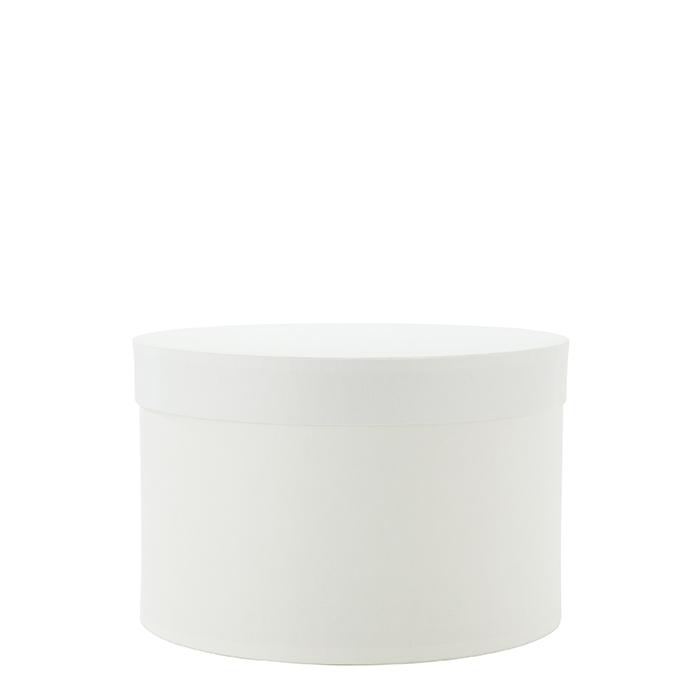 White paper box d20 h13 cm